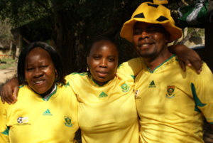 South African Soccer Fans at Londolozi Game Reserve
