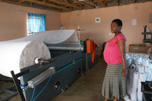 Dabuka Women Cooperative Toilet Paper Making Machine