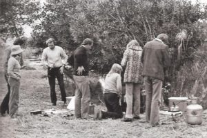 Peter Pyburn's bush breakfast at Londolozi circa 1980