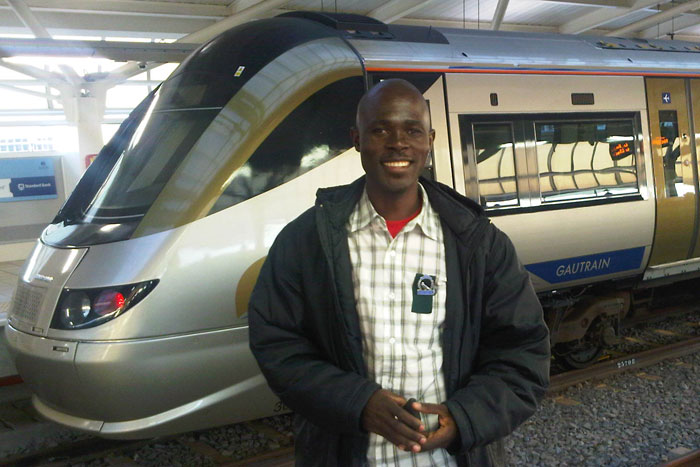 Cry Sithole on the Gautrain
