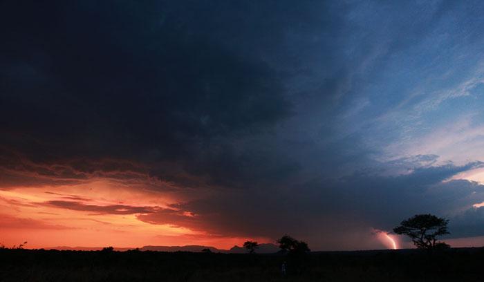 Lightning Striking the Lowveld Escarpment by Rich Laburn