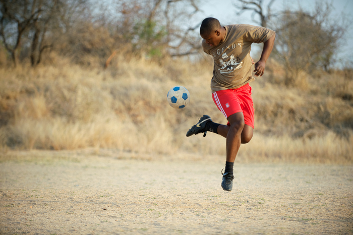 Dumi, Varty Camp Butler and Londolozi Leopards Striker - Ryan Graham