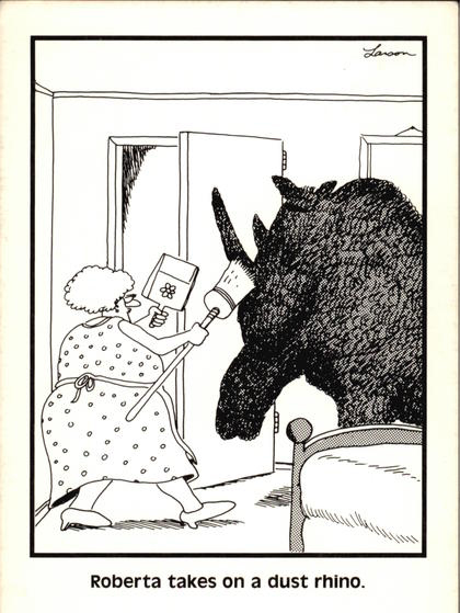 Gary Larson Dust Rhino Cartoon
