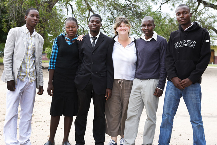The Good Work Foundation's Kate Groch with a team of learners