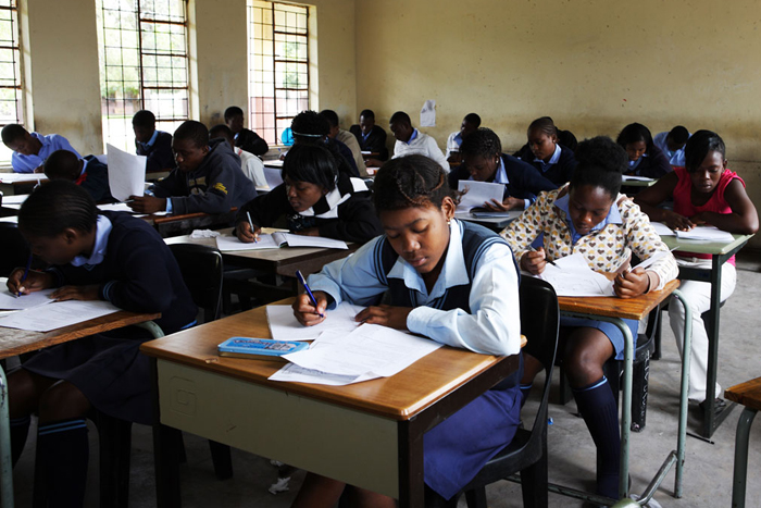Learners at the Madlala High School