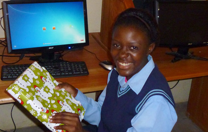 An early Christmas, courtesy of the Good Work Foundation, at the Madlala Digital Learning Center