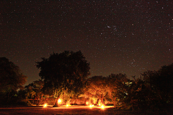 Stars overhead the entrance to Varty Camp - Rich Laburn