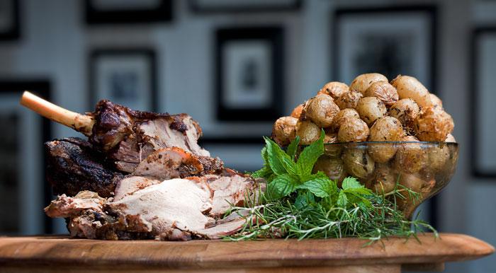 Roast Lamb, Baby Potatoes and Fresh Mint - Rich Laburn