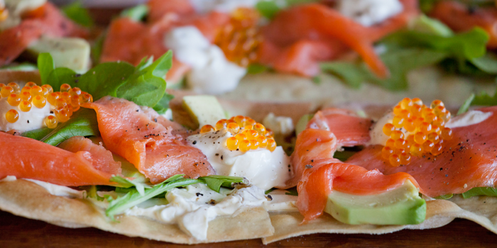 Caviar and Smoked Salmon Pizza