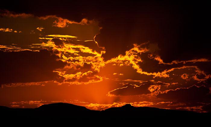 Red Sunset Sky - Rich Laburn