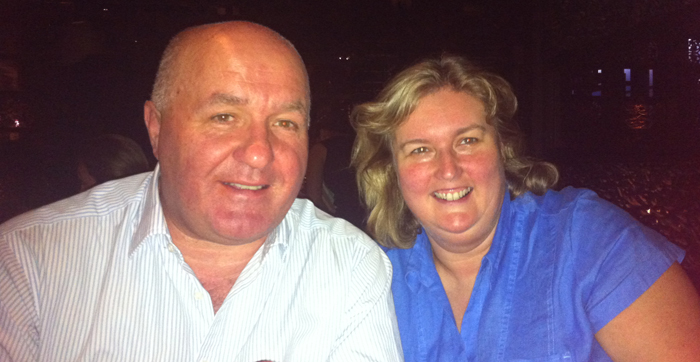 Dinner with long time, repeat Londolozi Guests - Alan and Sue Prince