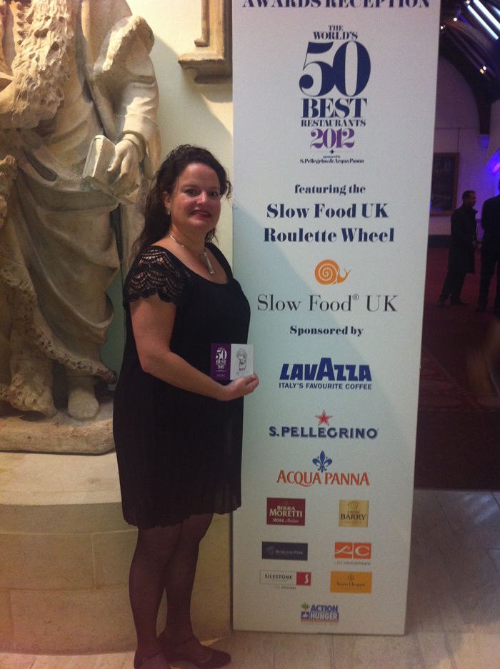 Anna at the Worlds 50 Best Restaurants Awards Ceremony