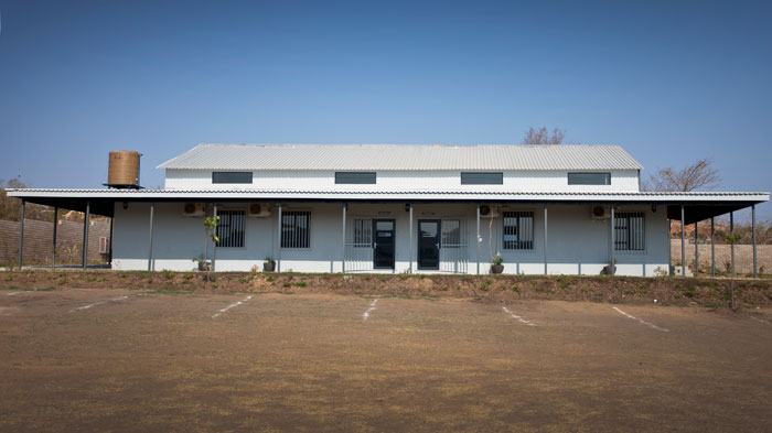 On the northern side of the building, classrooms are kitted out with computers and internet access.