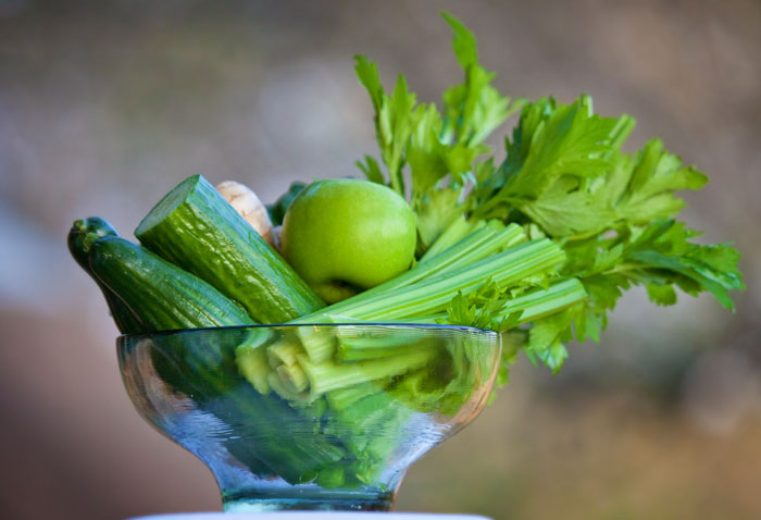 Cucumber, Apples, Spinach, Celery and Mint