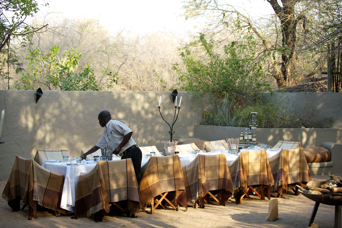 Preparing the Boma for dinner, preparation is just as important as service