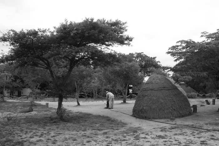 The traditional Shangaan village at Londolozi.