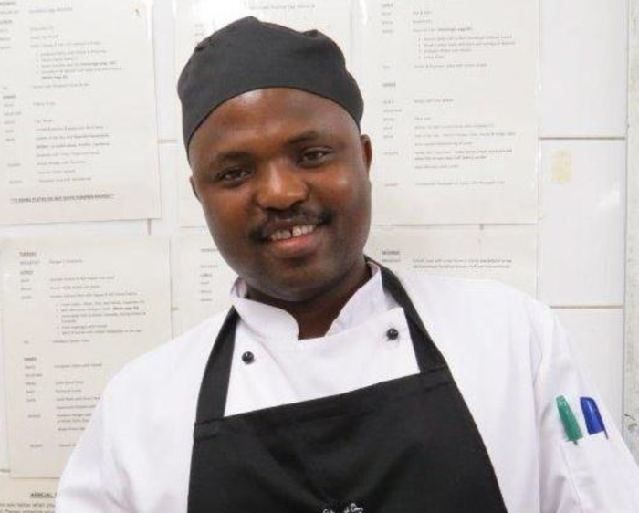 Sipho takes great pride when making each dish