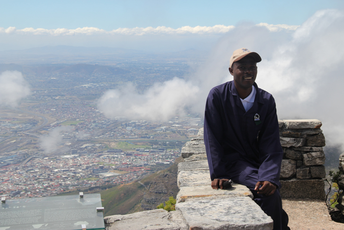 Cry on top of Table Mountain