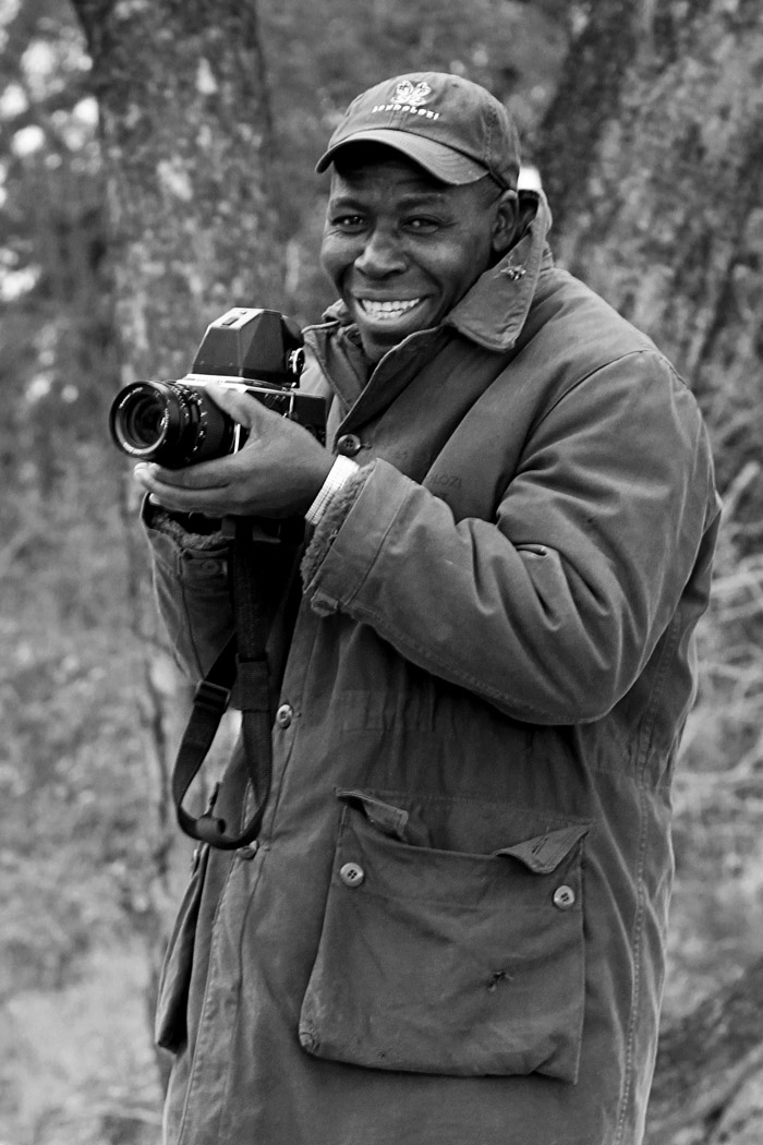 Always wanting to learn...here Solly is trying out photography