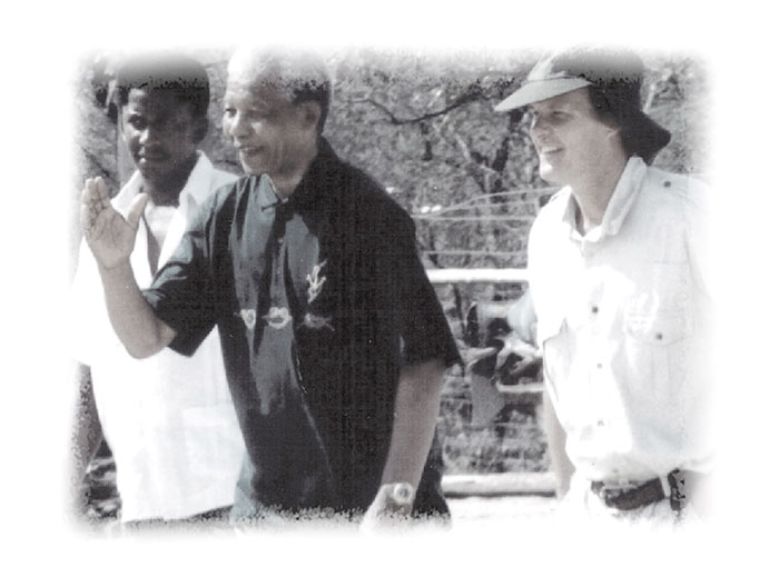 A rare photograph of Nelson Mandela during his visit to Londolozi in 1991