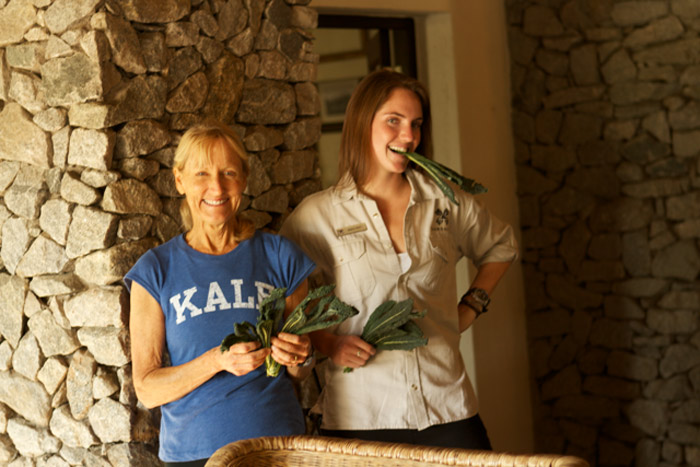 "The Londolozi team exceeds expectations, hearing about a vegetable she did not know, Jess contacts a farmer who drops off a bag of kale at an exchange point under a bridge between Hazy View and Londolozi. Now, that is going ""beyond the kale."""