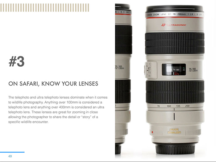 A breakdown of what lenses to bring and what lenses best suit different situations out in the field