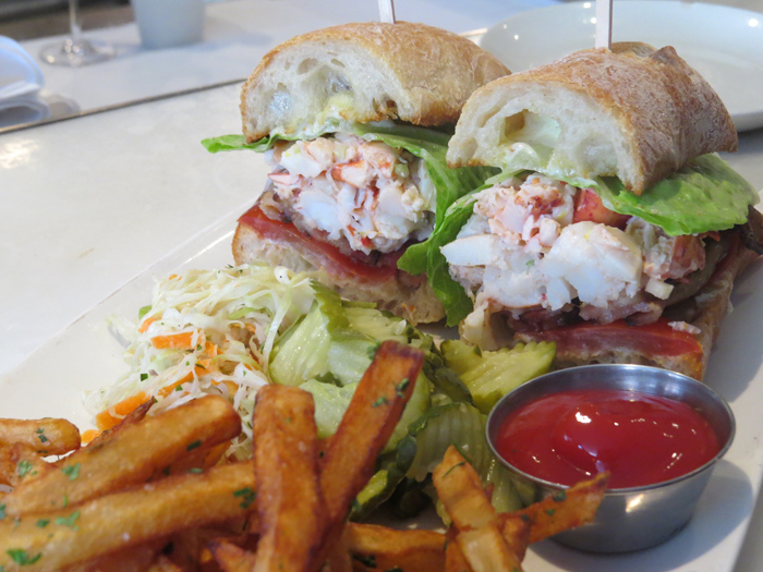 Lunch at B&G Oysters was my all time culinary win! Lobster BLT with Fries & Coleslaw shared with a Crab & Avo Club – this will always be remembered!