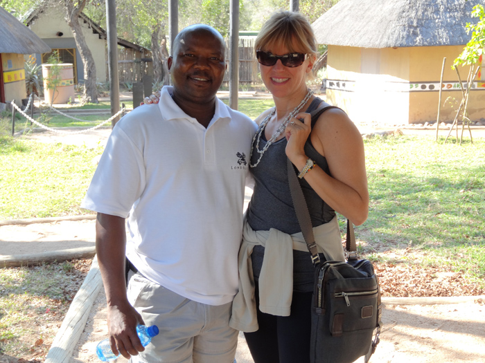 Witness and I on the Village walk at Londolozi.