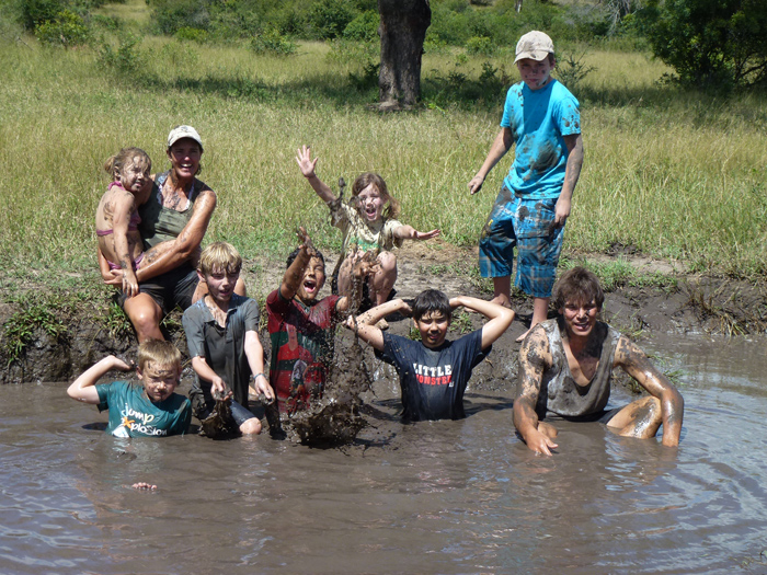 Everyone gets dirty...we often wander whether the rangers have more fun than the kids.