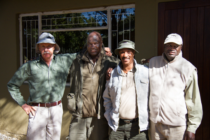 The incredible proud trainers involved in the Lead Tracker course. From Left: Ian Thomas, George Nkuna, Renias Mhlongo.
