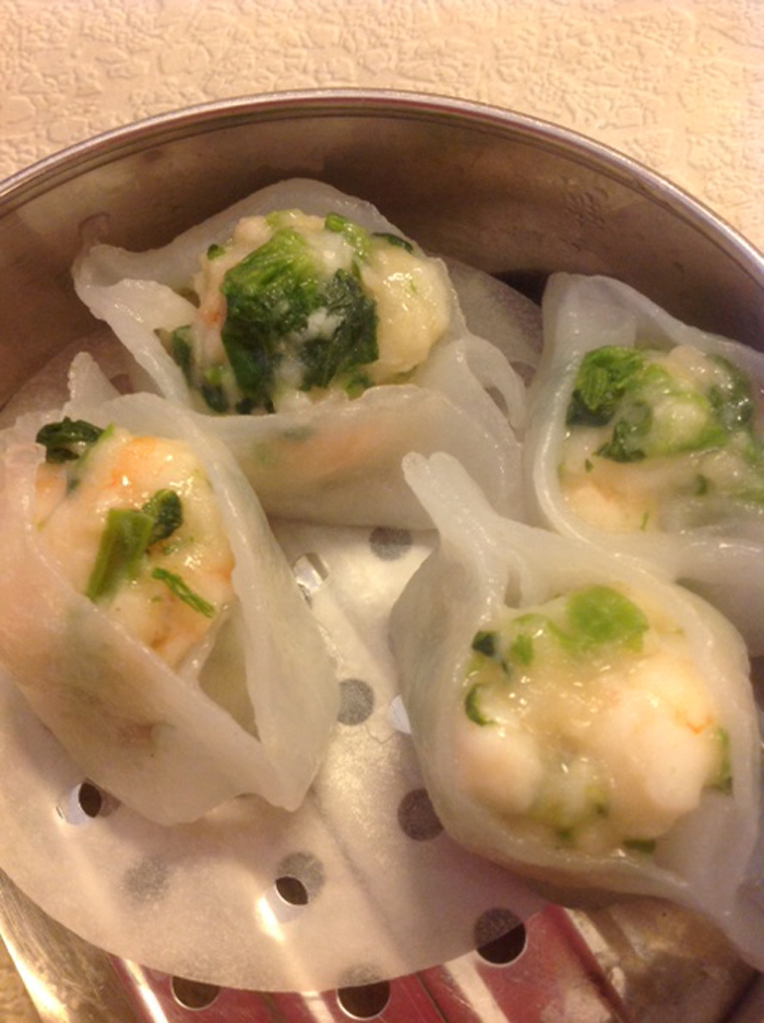 Shrimp and Pea shoot Dim Sum