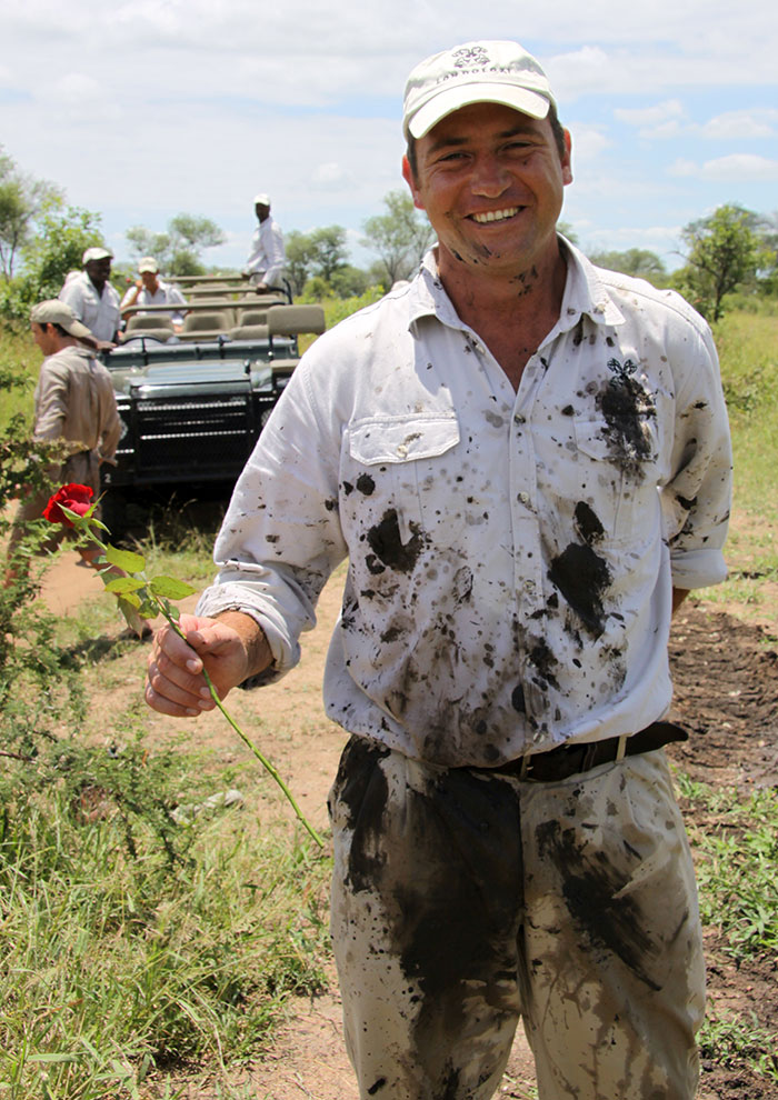 Having a laugh while filming the Londolozi Valentine's Day video of 2010.