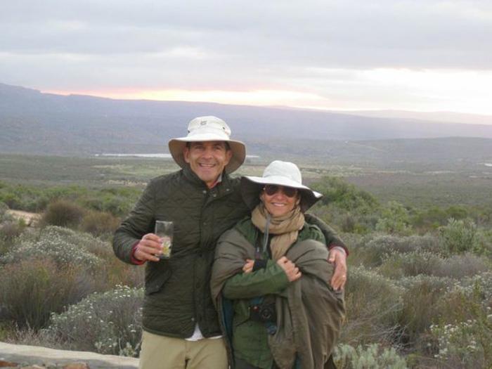Bobbi Brown & her husband Steven Plofker in South Africa