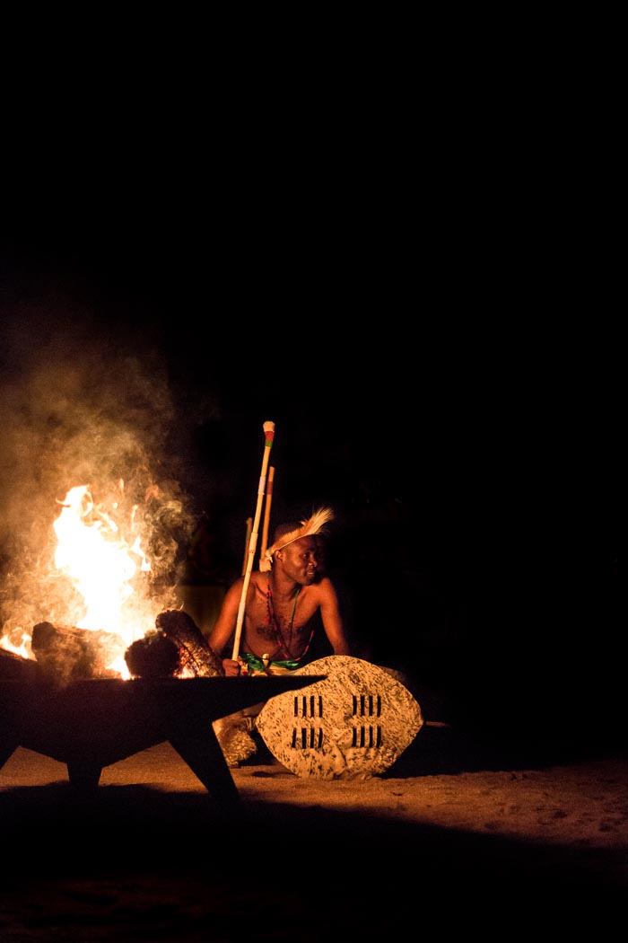 Come and join us for a true African experience. here our good friend and Camp Manager, Cry SIthole performs in the boma.