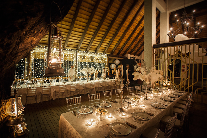 A fine dining party is guaranteed with a set up like this. Photograph by Richard Laburn