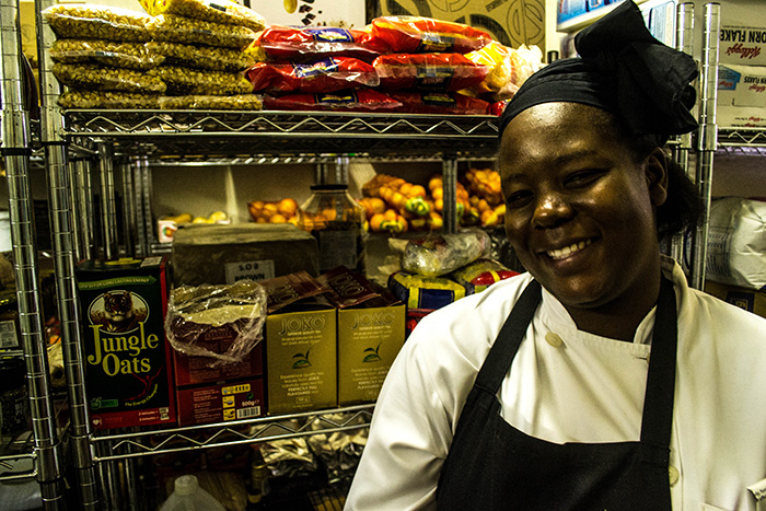 A chance meeting with Sous Chef, Thoko Ngobeni, in the Londolozi fridge