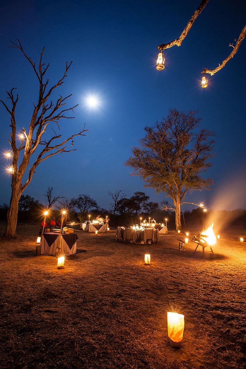Londolozi bush-dinnner - Rich Laburn