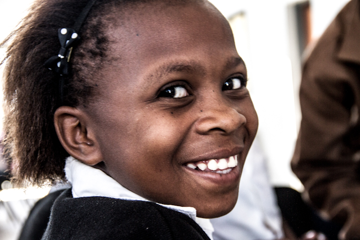 This young learner attends a public school located 80 kilometres from Londolozi. She shares a class with approximately 39 other learners and - before this week - had never worked on an desktop or a tablet computer.