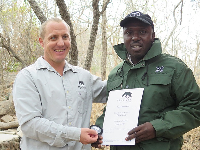Robert Hlatshwayo with Lead Tracker certificate