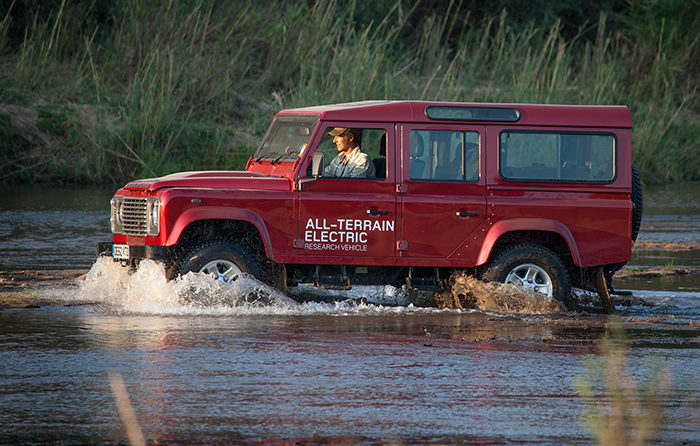 All Terrain Electric Research Vehicle Land Rover