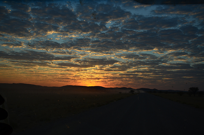 The Damaraland Desert offers arguably the most evocative sunsets on the planet...