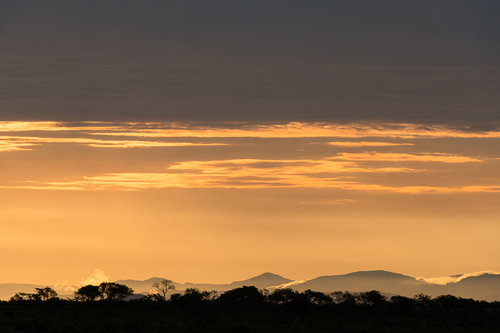 The distant mountains and their dusting of clouds was a sight to behold at sunset. Simon Smi