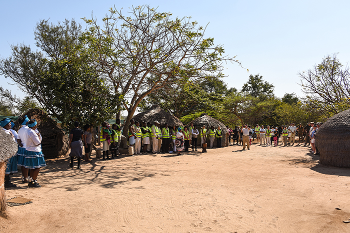 A rare view of our community, together as one in our traditional village