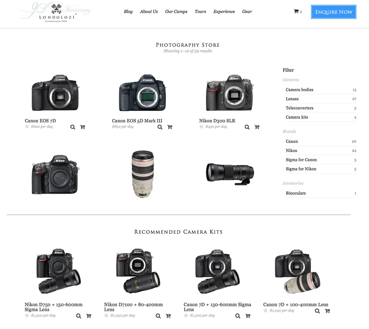 Londolozi Photographic Gear store