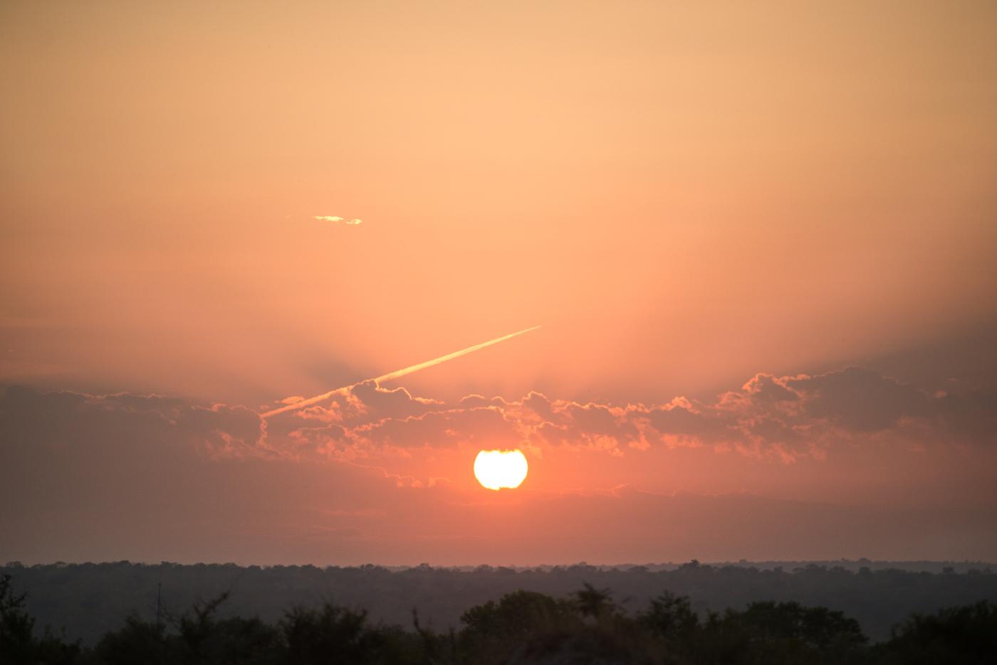 sunrise, jet stream, SC