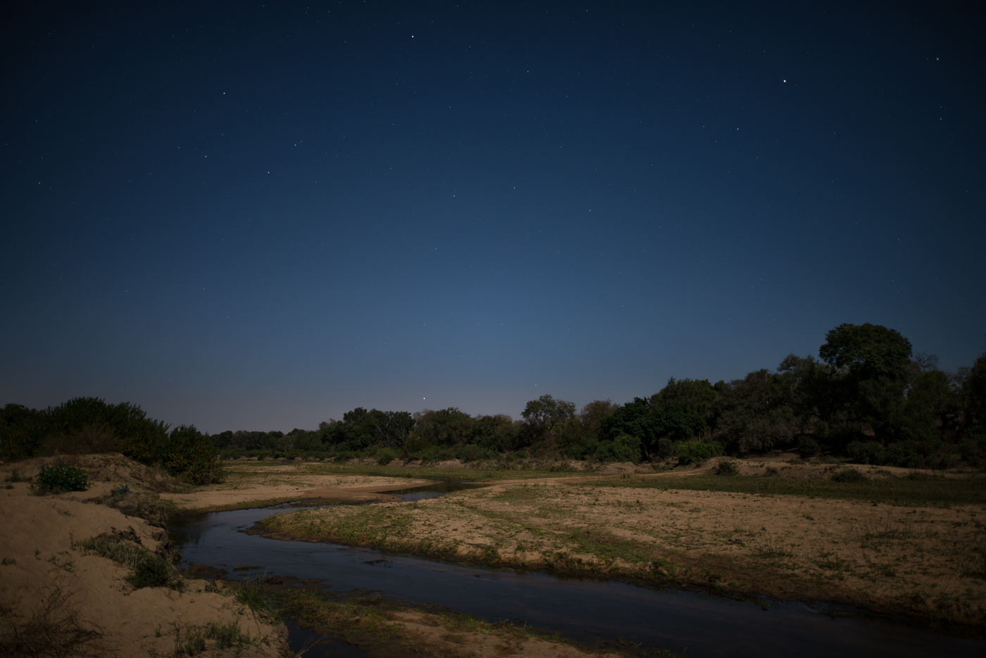 sand river, finfoot, moon light, SC