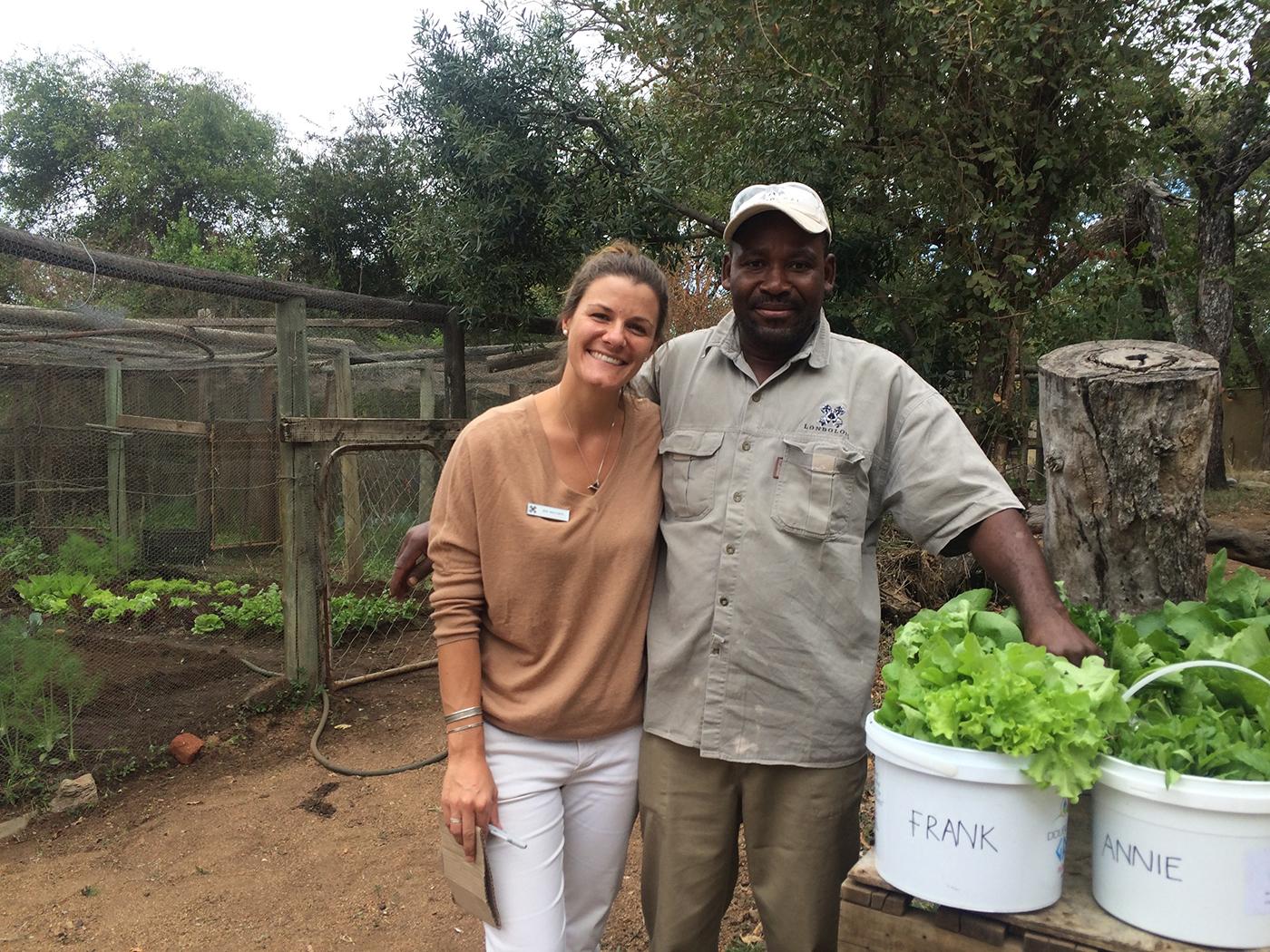 Jess and Frank, veggie gardens