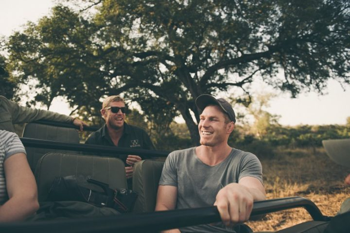 Mick Fanning and David Pocock Londolozi - Corey Wilson
