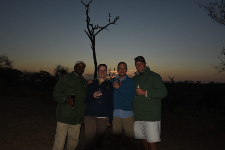 evening drinks stop, Londolozi, Kruger