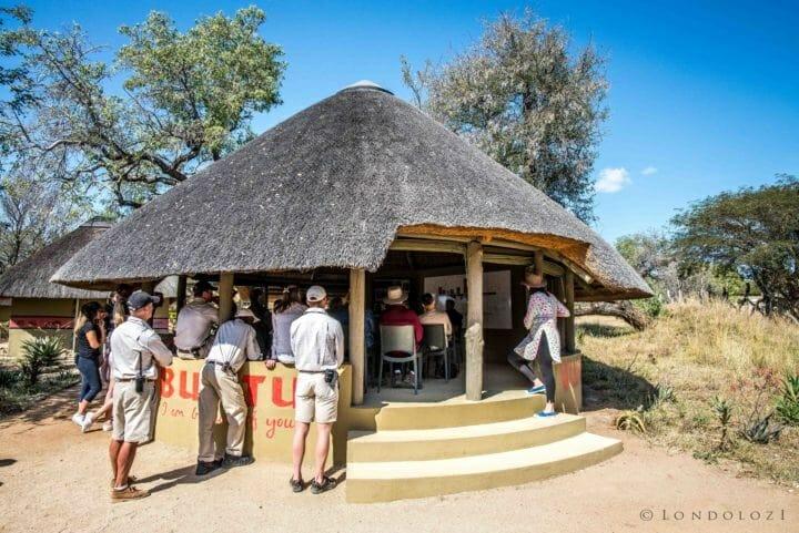 Londolozi's Ubuntu thatched hut where storytelling and other gathering occur